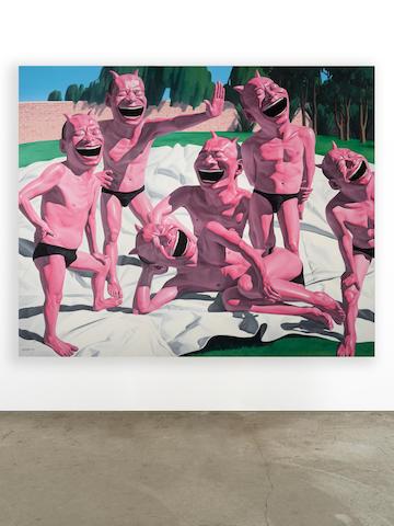 YUE MINJUN (B. 1962) Post-Modern Garden, 2006