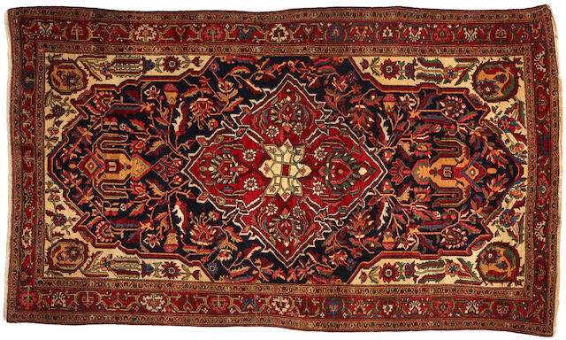 A Fereghan rug  Central Persia size approximately 4ft. 4in. x 7ft. 5in.