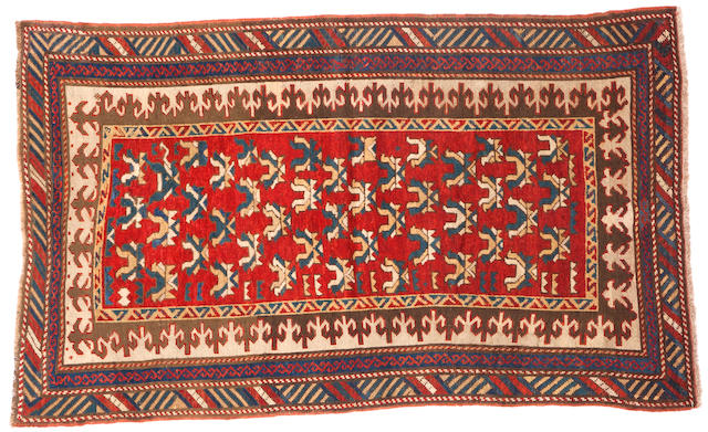A Kazak rug Caucasus size approximately 3ft. 4in. x 5ft. 5in.