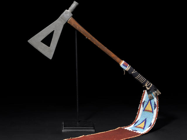 A Crow pipe tomahawk