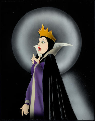 A celluloid of the evil queen from Snow White and the Seven Dwarfs
