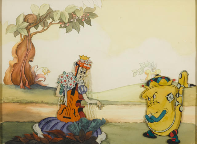 A celluloid from the Silly Symphony  Music Land