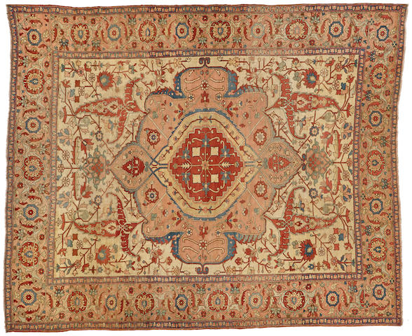A Serapi carpet Northwest Persia size approximately 9ft. 10in. x 12ft.