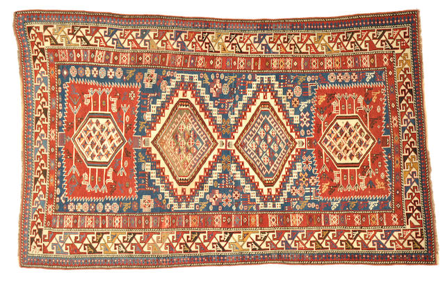A Shirvan rug Caucasus size approximately 4ft. 1in. x 6ft. 8in.
