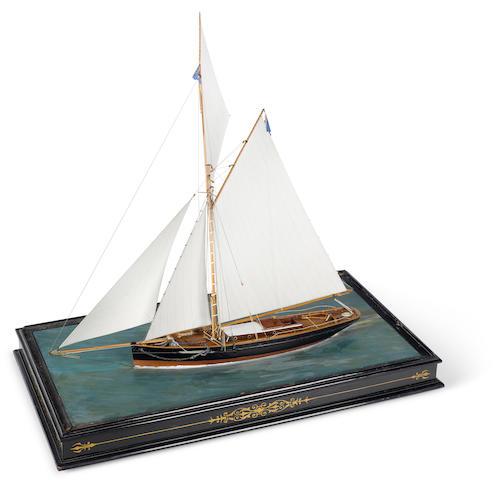 A Victorian diorama of a cutter yacht 30 x 17 x 29.1/2 in., cased.