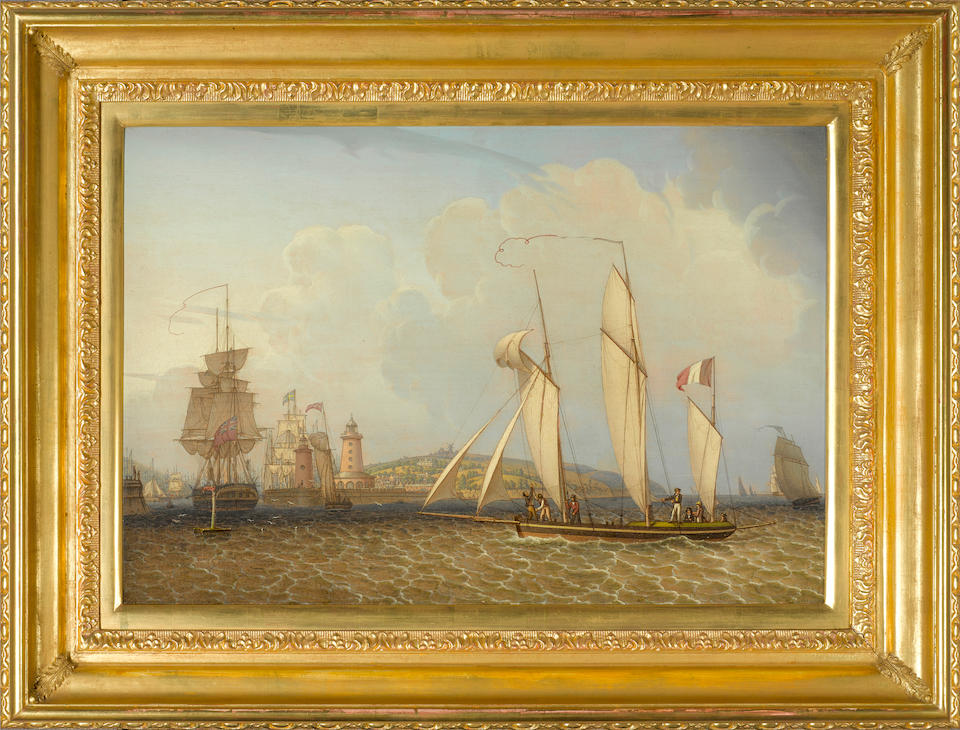 Robert Salmon (British, 1775-1845) A French Lugger  16-1/2 x 24-1/4 in.