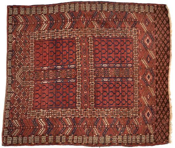 A Tekke rug Turkestan size approximately 4ft. 6in. x 5ft. 5in.