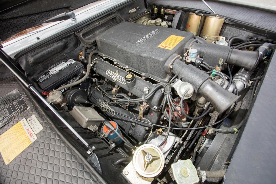 <B>1982 MASERATI QUATTROPORTE III SEDAN<BR />Coachwork by Giorgetto Giugiaro<br /><br />VIN. ZAMBC1104CA301840</B><BR />Engine no. 10418