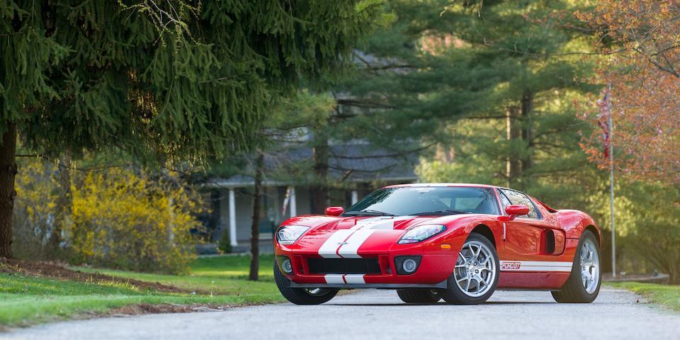 <i>One owner from new, 113 original miles</i><BR /><B>2005 Ford GT<br /><br />VIN. 1FAFP90S85Y401323</B><BR />Engine no. 5Y401323