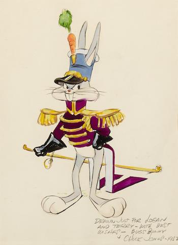 A Chuck Jones watercolor of Bugs Bunny