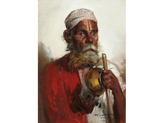 Antonio Xavier Trindade (India, 1870-1935) Portrait of an Old Man Untitled (Portrait of an Old Man)
