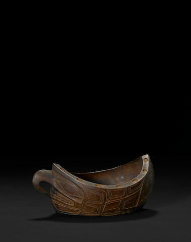 A Haida effigy bowl