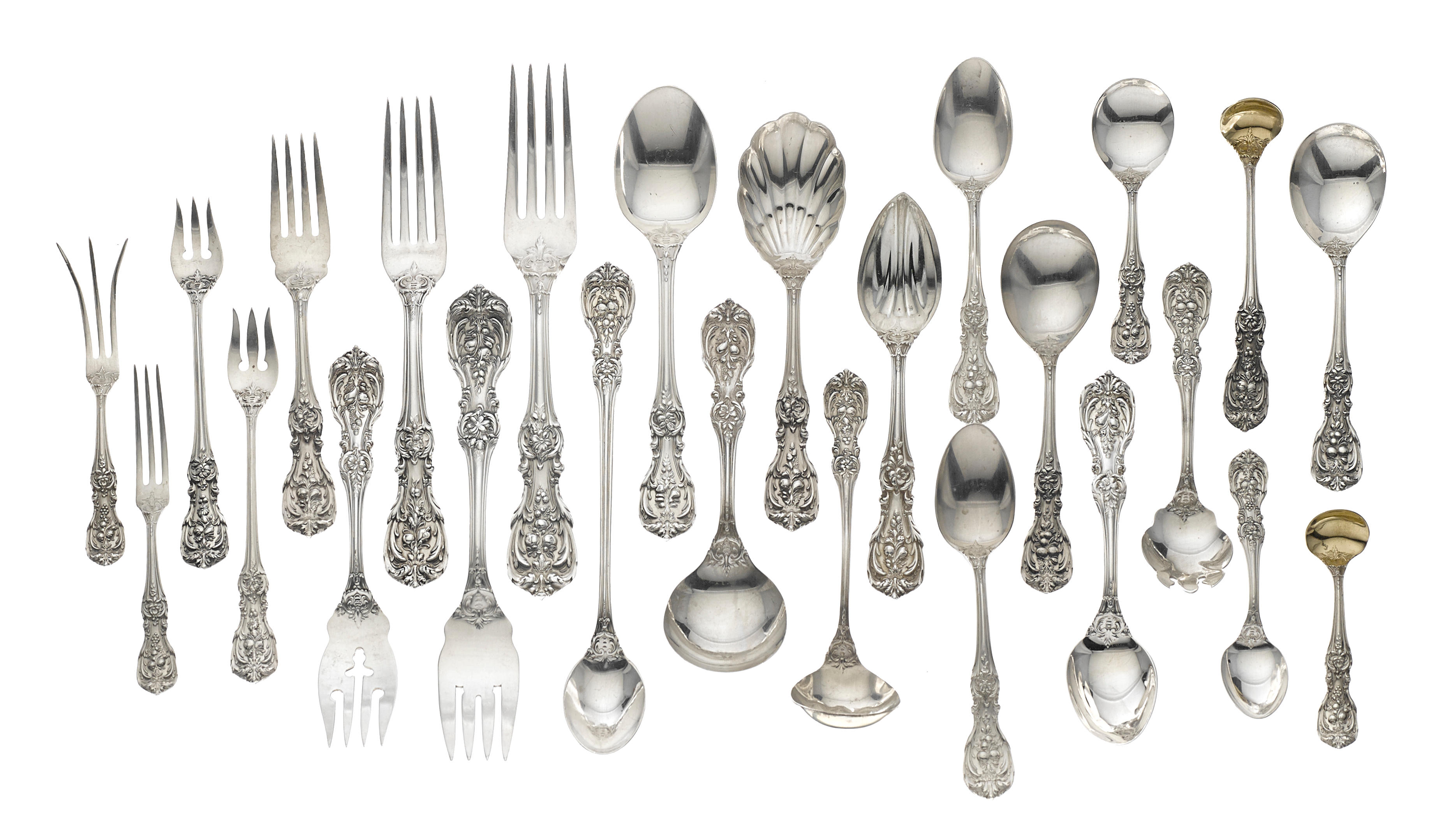 ONE FRANCIS I BY REED /& BARTON STERLING SILVER STRAWBERRY FORK 12 ARE AVAILABLE