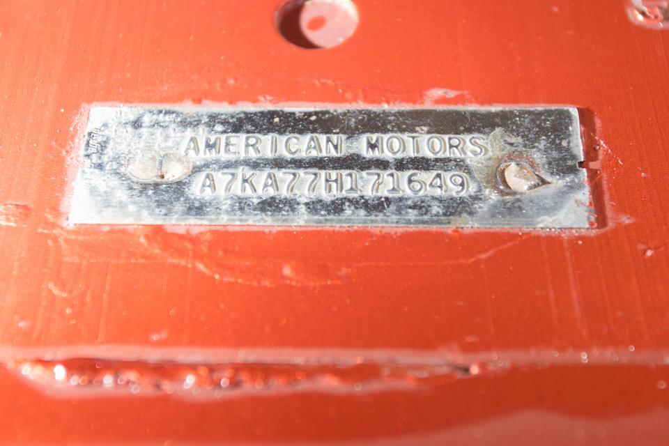 <B>1967 AMERICAN MOTORS RAMBLER REBEL SST CONVERTIBLE<br /></B><BR />Chassis no. A7KA77H171649