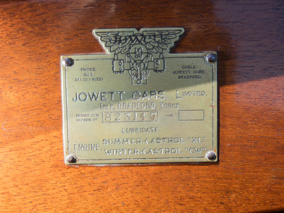 <B>1928 JOWETT 7/17 SPORTS<br /></B><BR />Chassis no. 823147<BR />Engine no. 823147