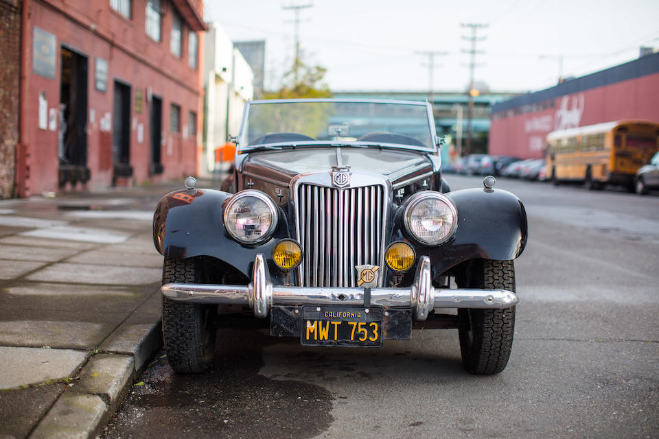 <i>In single family ownership from new</i><BR /><B>1955 MG TF ROADSTER<br /></B><BR />Chassis no. HDA46/6538<BR />Engine no. XPEG/638