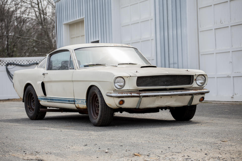 "<i>Recently discovered ""barn find""<br />Just one owner from new</i><BR /><B>1966 SHELBY GT350 ""CARRY OVER CAR""<br /></B><BR />Chassis no. SFM6S163"