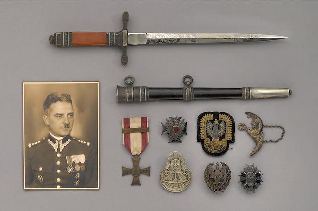 An historic Polish officer's dagger and medal group of Colonel Josef Kapciuk
