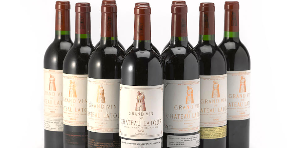 Château Latour Vertical Selection 1990-2009, Pauillac 1er Grand Cru Classé (18 bottles and 2 magnums)