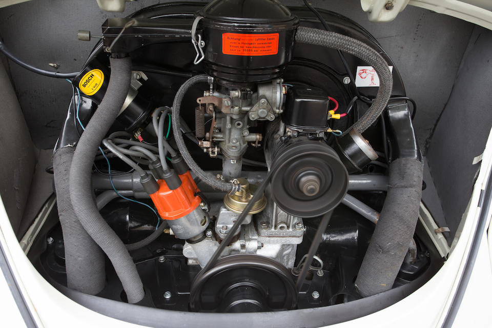 """<B>1963 VOLKSWAGEN BEETLE """"SUN ROOF"""" SEDAN<br /></B><BR />Chassis no. 5494928<BR />Engine no. H059401"""
