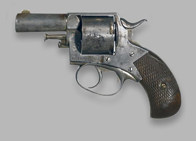A Webley No. 2 .450 Centerfire double action revolver with retailer marking 'Liddle & Kaeding San Francisco'