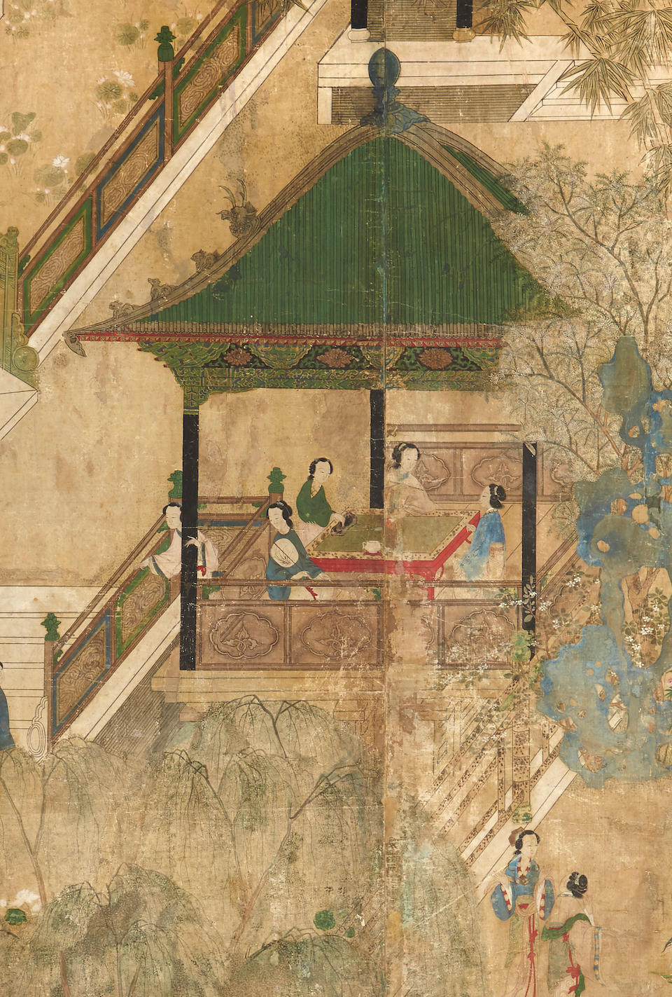 Anonymous (19th/20th century) Palace Ladies in a Garden
