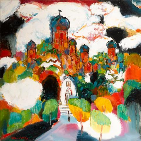 Chen Junde (born 1937) Russian Church in Shanghai, 1988