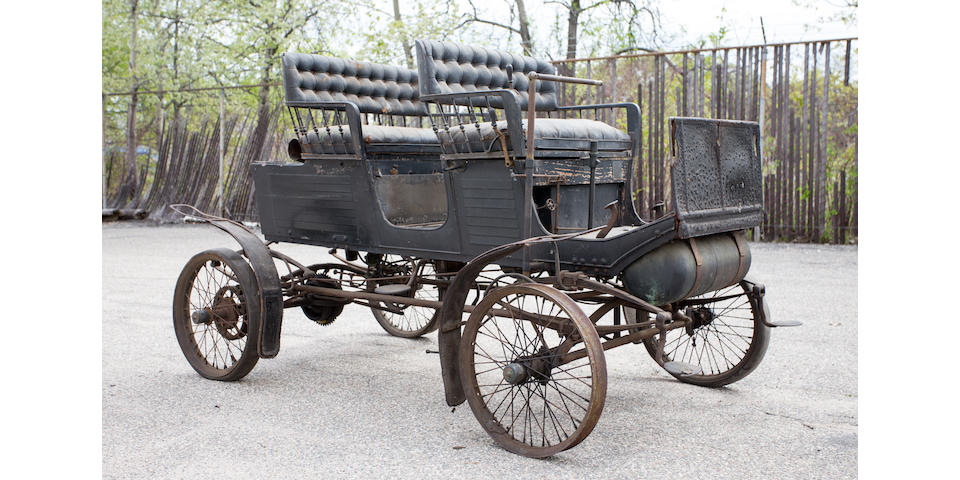 """<i>Offered from nearly 80 year ownership, one of three known original survivors</i><BR /><B>1901 Locomobile Style 5 """"Locosurrey""""</B><BR />Chassis no. 4507"""