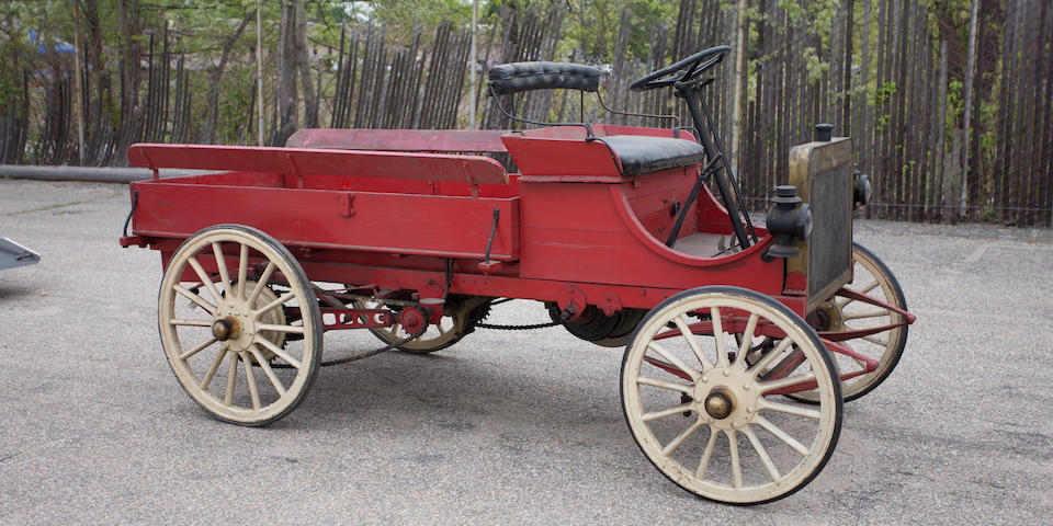 "<B>1908 Galloway ""Dual Purpose Vehicle"" Highwheeler Station Wagon</B><BR />Engine no. 838"