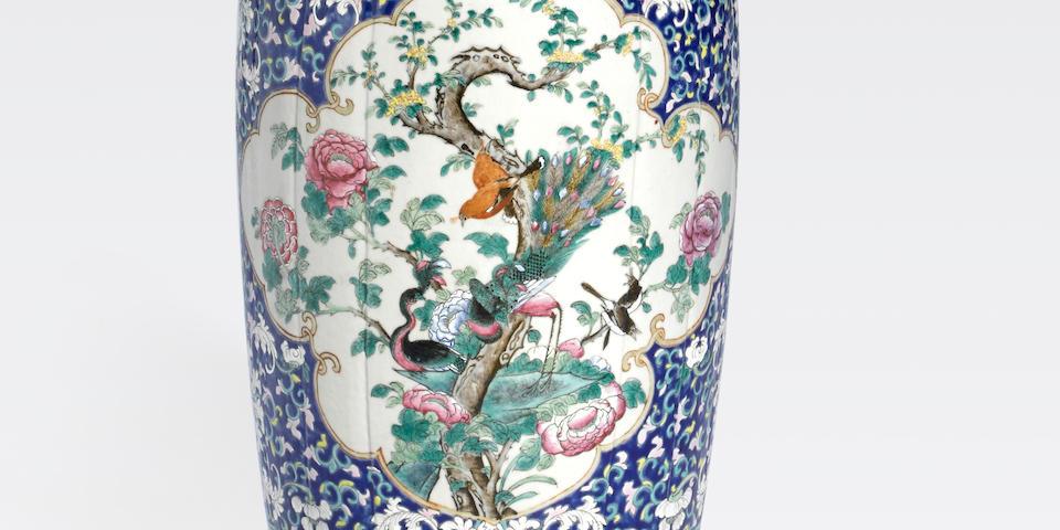 A polychrome enameled baluster vase 19th century