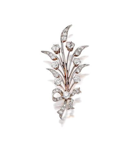 An Antique diamond brooch,  Tiffany & Co.,