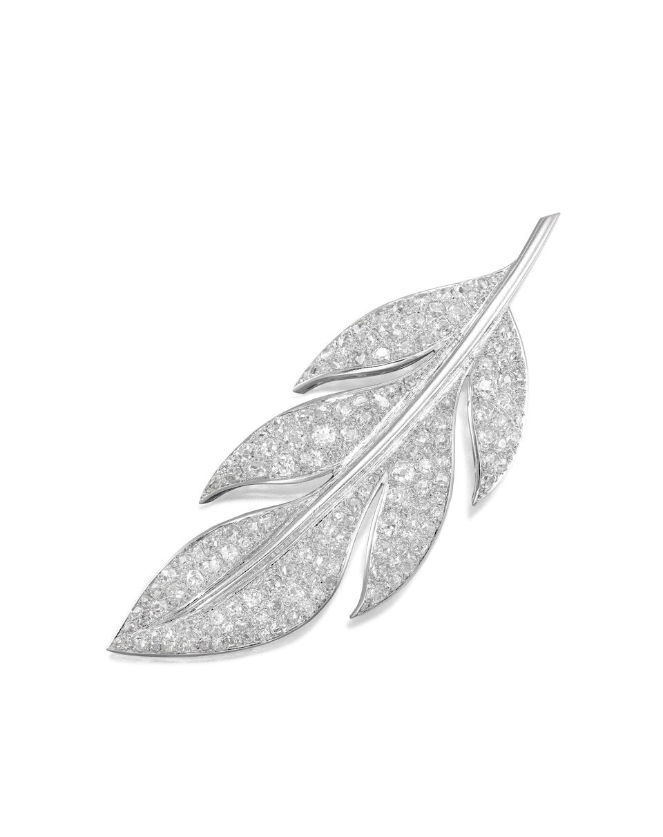 An art moderne diamond brooch, French