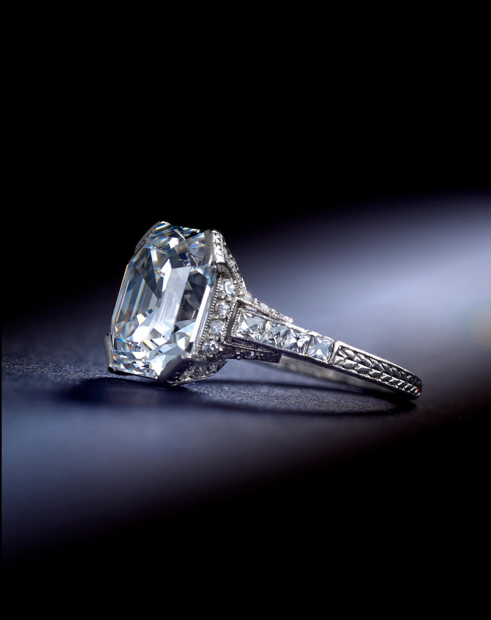 A fine Art Deco diamond ring, C.D. Peacock,