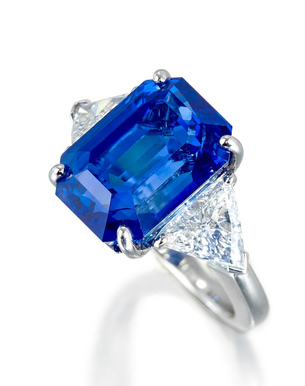An elegant sapphire and diamond ring
