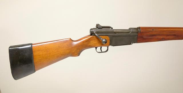 A French MAS Model 1936 semi-automatic rifle