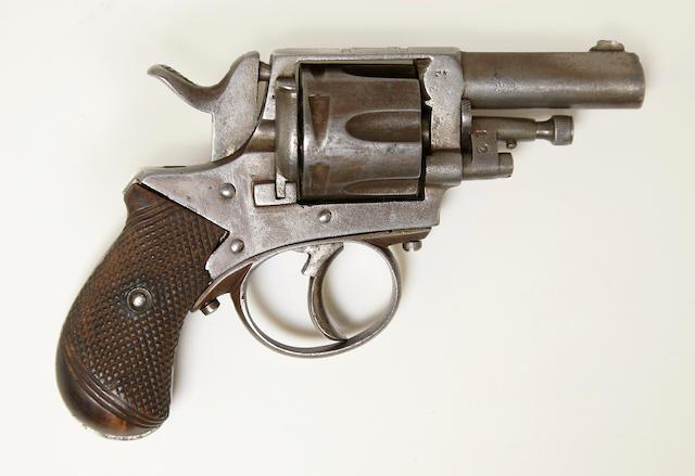 A Belgian 'British Bulldog' double action pocket revolver