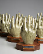 SPACESUIT DEVELOPMENT  ASTRONAUT HAND CASTS USED IN MAKING THE SPACE SUIT GLOVES. ILC Industries, Dover, c.1967.