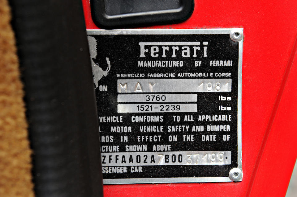 <b>1981 FERRARI 308GTSi</b>
