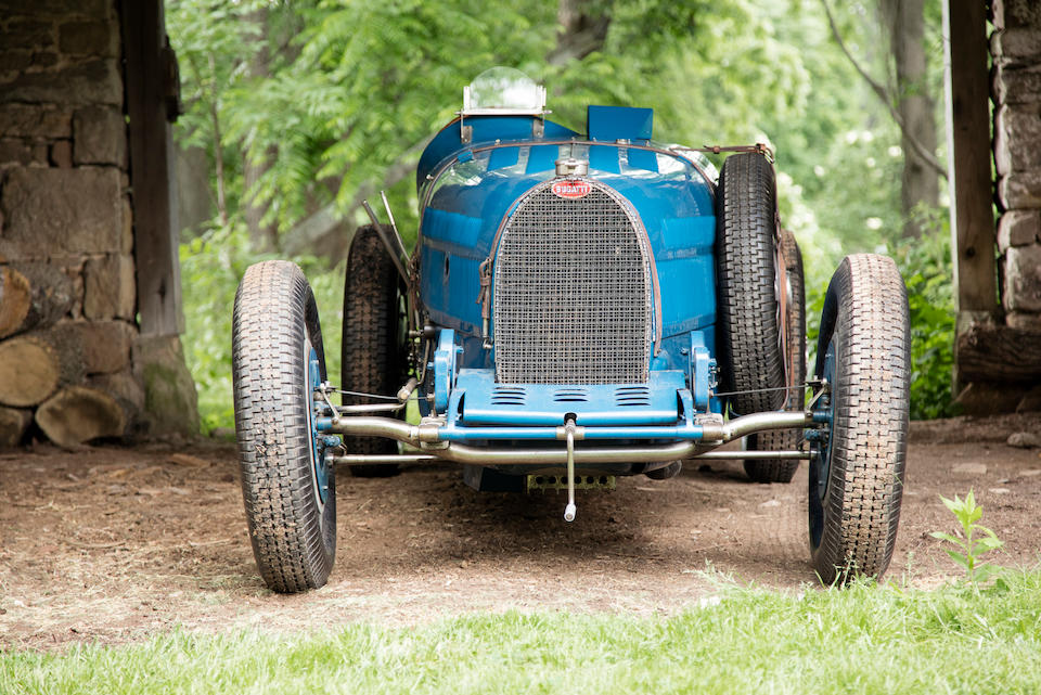 <i>The Ex-Earl Howe, Hon. Brian Lewis, Piero Taruffi, Tazio Nuvolari, Arthur Dobson, and Bill Serri Jr.</i><br /><B>1931 BUGATTI TYPE 51 GRAND PRIX RACING TWO SEATER</B>