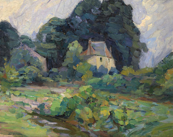 Joseph Raphael (1869-1950) House in Belgium (possibly the artist's home) 26 x 32 1/2in overall: 32 1/2 x 38 3/4in