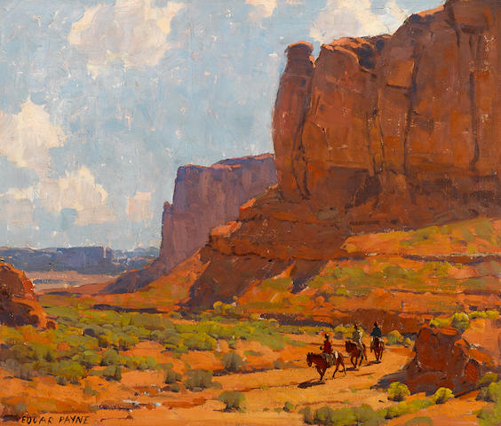 Edgar Payne (American, 1883-1947) Monument Valley, Riverbed 25 1/4 x 30 1/4in overall: 29 1/2 x 34 1/2in