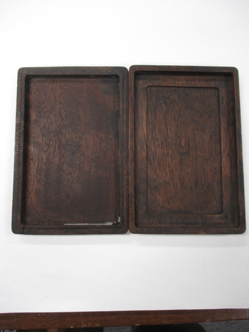 Two ink stones in hardwood cases Republic period