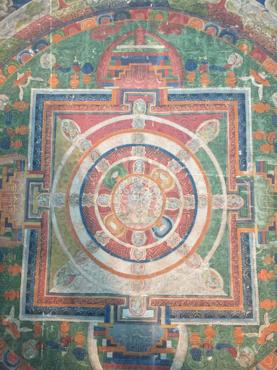 Bonhams : A Chakrasamvara mandala Central Tibet, 19th century