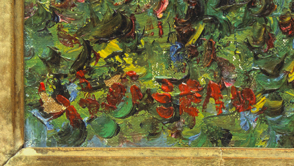 GUSTAVE LOISEAU (1865-1935) Chemin de Maigremont, Saint Cyr du Vaudreuil 18 1/8 x 21 5/8 in (46 x 55 cm)
