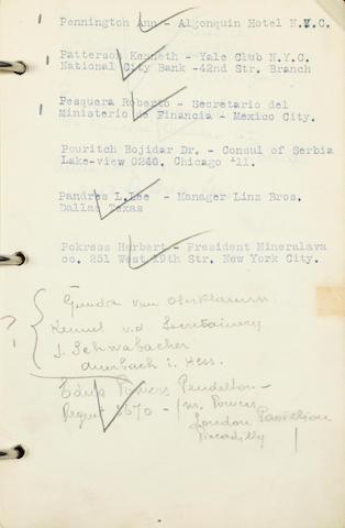 nyt design på lager anerkendte mærker Bonhams : A Rudolph Valentino address book