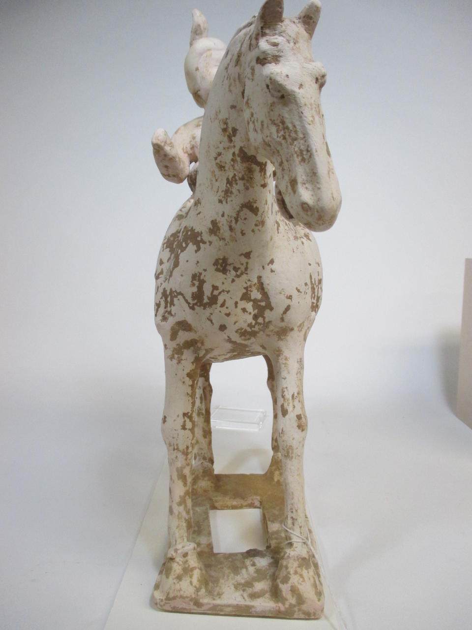 A painted pottery model of an equestrienne<br /><b>Tang dynasty</b>