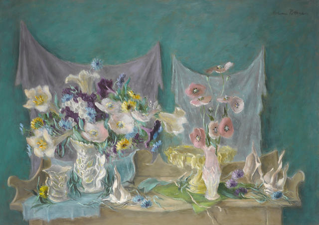 Hobson Pittman (1898-1972) The Buffet 32 1/8 x 45 1/8in (Painted by 1948.)