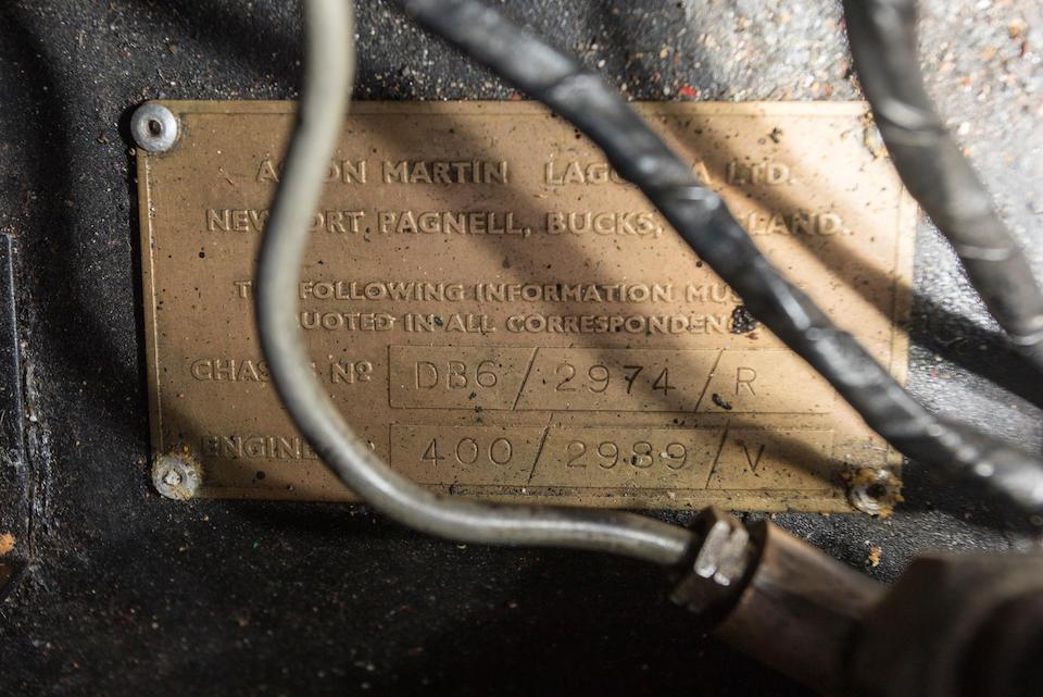 <B>1967 ASTON MARTIN DB6 VANTAGE<br /></B>