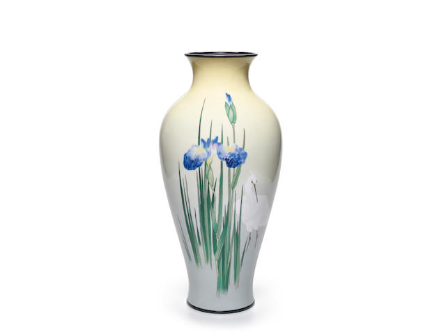 Namikawa Sosuke (1847-1910) A very fine and large cloisonné-enamel vaseMeiji era (1868-1912), c. 1900