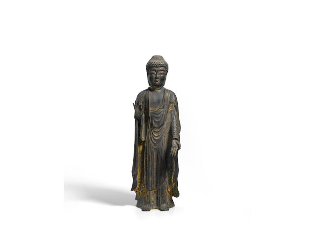 A gilt-bronze figure of Amida Buddha  Kamakura period (1185-1333